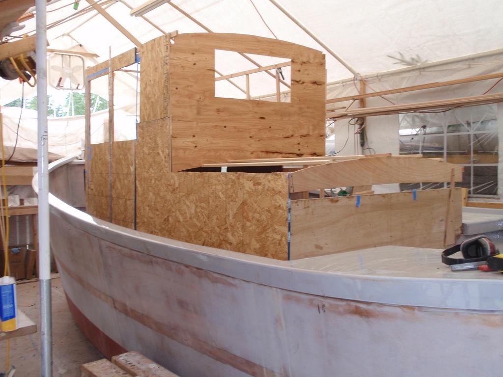 Cabin mockup boatbuilding blog for Cabin construction plans