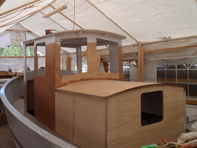 Photo Essay Installing The Plywood Cabin Top Trim