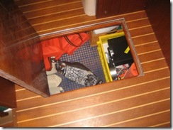 pilothouse storage under sole