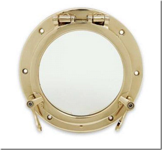 8 Inch Bronze Porthole - Inside view