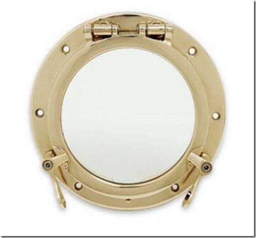 8 Inch Bronze Porthole - Inside view