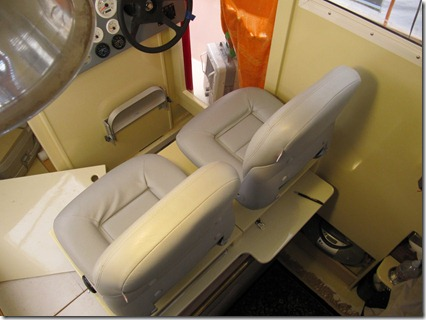 Pilot seats in normal position
