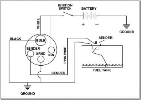 Grounding A Plastic Gas Tank on vdo temperature gauge wiring diagram